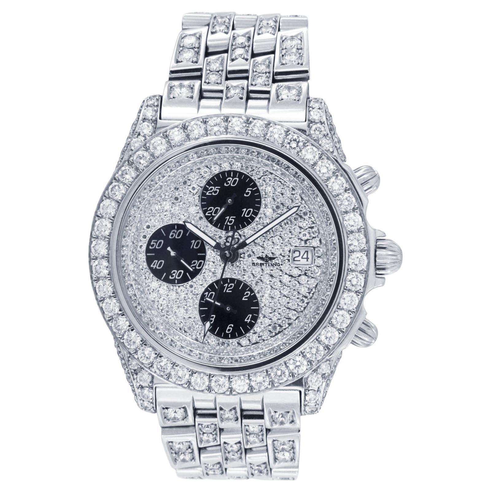 Breitling Crosswind Chronograph Automatic Diamond Watch A13355