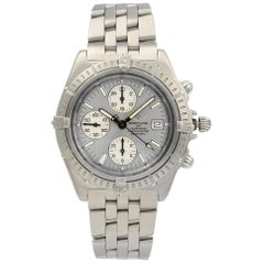 Breitling Crosswind Chronograph Steel Silver Dial Automatic Men's Watch A13355