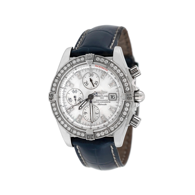 Breitling Diamond Bezel Platinum Watch