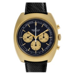 Breitling Duograph No-Ref#, Blue Dial, Certified and Warranty