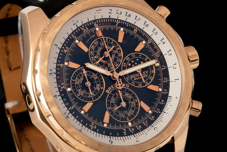 Breitling for Bentley Mulliner Perpetual Calendar Chronograph H29362 Watch In Excellent Condition In London, GB