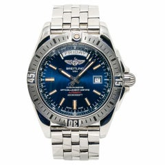 Breitling Galactic 44 A45320 Men's Automatic Watch Blue Dial Stainless Steel