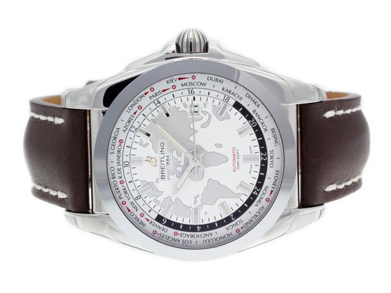 Contemporary Breitling Galactic 44 Unitime WB3510U0/A777-437X For Sale