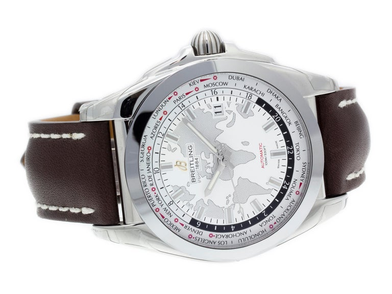Breitling Galactic 44 Unitime WB3510U0/A777-437X In Excellent Condition For Sale In Willow Grove, PA