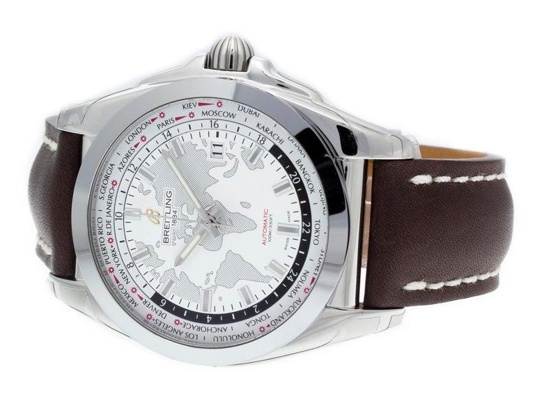 Men's Breitling Galactic 44 Unitime WB3510U0/A777-437X For Sale