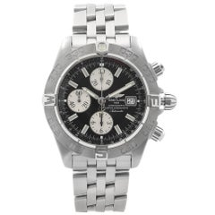 Breitling Galactic Steel Black Dial Automatic Mens Watch A1336410-B719SS
