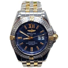 Breitling Galactic B49350 Big Date 18 Karat Yellow Gold and Steel Box and Papers