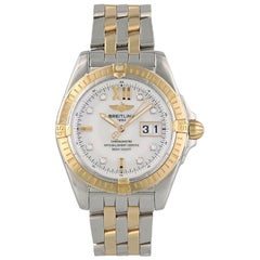Breitling Galactic C49350 Mother of Pearl Dial Box Papers
