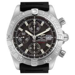 Breitling Galactic II Chronograph Grey Dial Steel Mens Watch A13364 Unworn