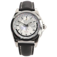 Breitling Galactic Unitime Automatic Stainless Steel and Leather 44 Watch