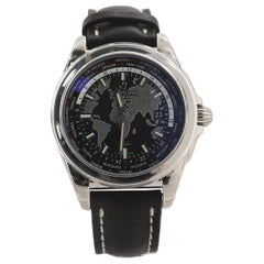 Breitling Galactic Unitime Automatic Watch Stainless Steel and Leather