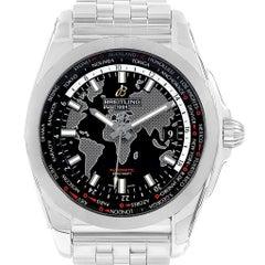 Breitling Galactic Unitime SleekT Black Dial Men's Watch AB0152 Unworn
