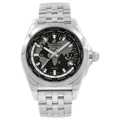 Breitling Galactic Unitime Stainless Steel Men's Watch WB3510U4/BD94-375A
