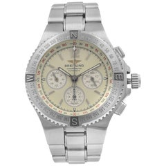 Breitling Hercules Chronograph Steel Cream Dial Automatic Men's Watch A39363