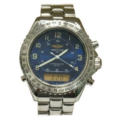 Breitling Intruder A51035 Blue Dial Stainless Steel with Papers