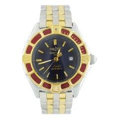 Breitling J Class D52065 Women's Quartz Watch Two Tone 18K & SS