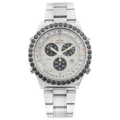 Breitling Jupiter Pilot Steel Diamond White Dial Alarm Quartz Men's Watch A59028