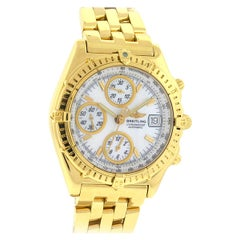 Breitling K13050.1 18 Karat Yellow Gold Chronomat MOP Dial Automatic Watch