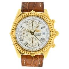 Breitling K13355 Crosswind Chronograph 18 Karat Yellow Gold Men's Watch