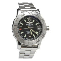 Breitling Ladies Colt A77387 Black Dial Stainless Steel Box and Papers