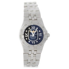 Breitling Ladies Starliner Stainless Steel with Black Diamond Dial