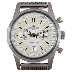 Breitling Limited Edition Transocean Chronograph Stainless Steel Silver Dial