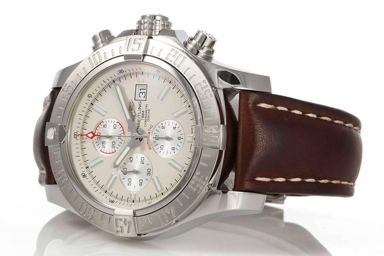 2a7b5f2e707 We are pleased to offer this Breitling Mens Super Avenger II Automatic  Chronograph Watch A13371.
