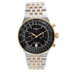 Breitling Montbrillant Legende Rose Gold Steel Black Dial Automatic Watch C23340