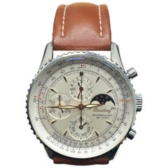 Breitling Montbrilliant 1461 Jours A19030 Stainless Steel Brown Leather Strap