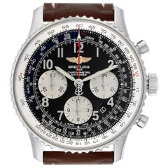 Breitling Navitimer 01 Black Dial Steel Men's Watch AB0120 Box Papers