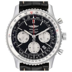 Breitling Navitimer 01 Black Dial Steel Men's Watch AB0121 Box Papers