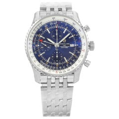 Breitling Navitimer 1 GMT Steel Automatic Blue Dial Men's Watch A24322121C2A1