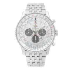 Breitling Navitimer 50th Anniversary Steel Silver Dial Mens Watch A41322
