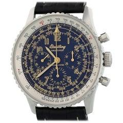 Breitling Navitimer A11022 mit Armband und Schwarzem Zifferblatt Zertifiziert aus Vorbesitz