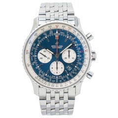Breitling Navitimer AB0127 Chronograph Blue Dial Men's Watch with Box and Paper