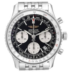 Breitling Navitimer Black Dial Chronograph Steel Men's Watch A23322 Box Papers