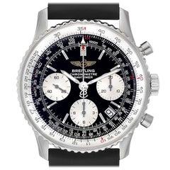 Breitling Navitimer Black Dial Chronograph Steel Men's Watch A23322