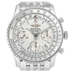 Breitling Navitimer Chronograph Silver Dial Steel Men's Watch A23322
