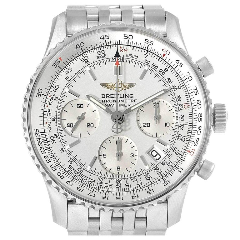 Breitling Navitimer Chronograph Silver Dial Steel Men S Watch A23322