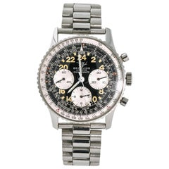Breitling Navitimer Cosmonaute 809 Men's Vintage Hand Winding Watch SS