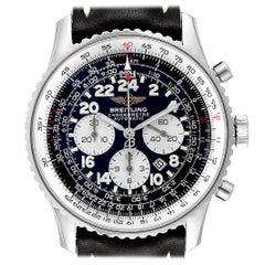 Breitling Navitimer Cosmonaute Black Dial Steel Men's Watch A22322
