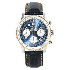 Breitling Navitimer D23322 Mens Automatic Watch Blue Dial Chronograph