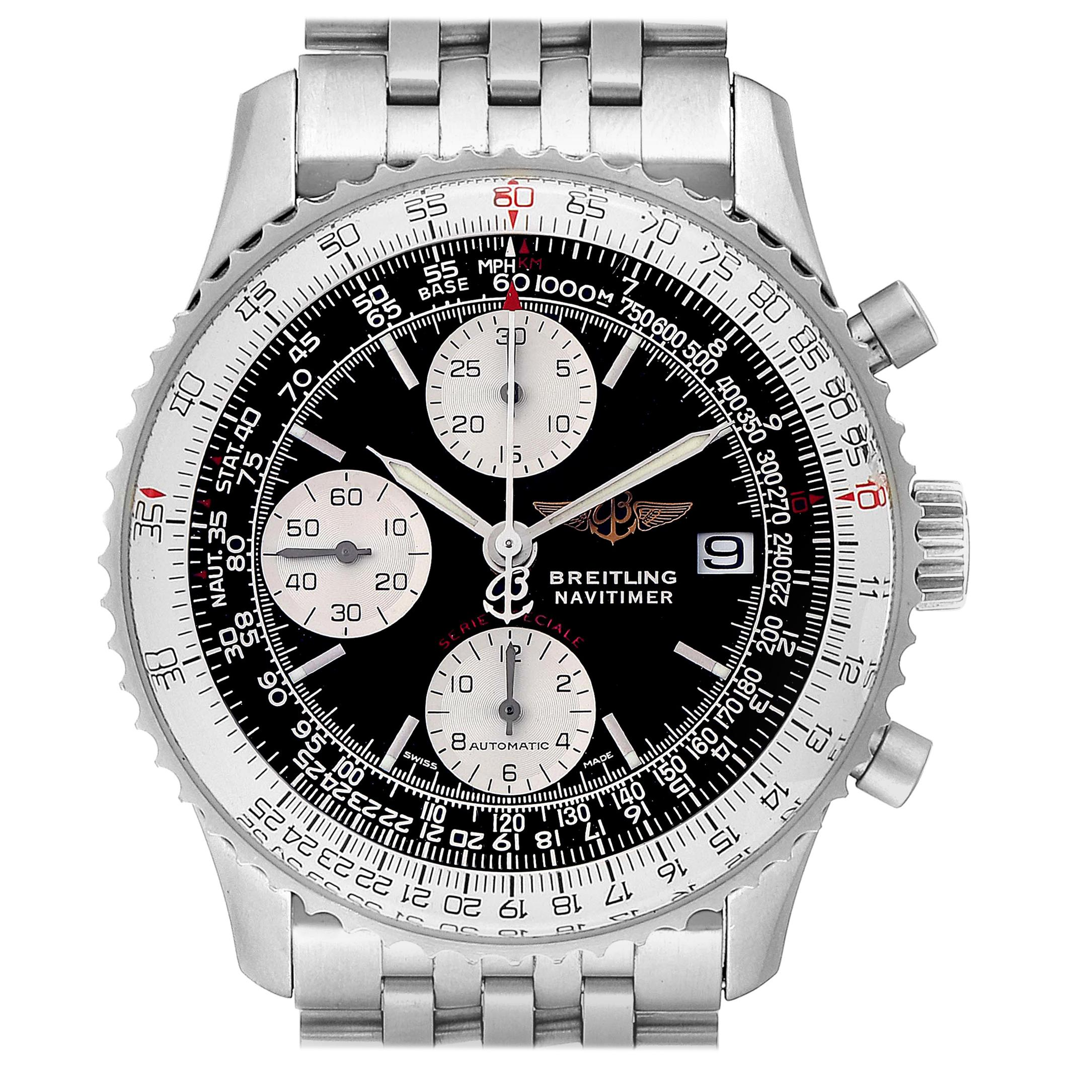 Breitling Navitimer Fighter Chronograph Steel Men's Watch A13330