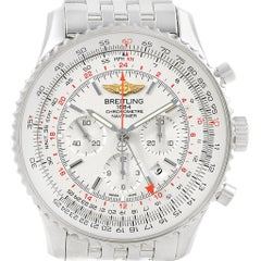 Breitling Navitimer GMT 48 Silver Dial Men's Watch AB0441 Box Papers
