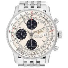 Breitling Navitimer Heritage Silver Panda Dial Steel Men's Watch A13324