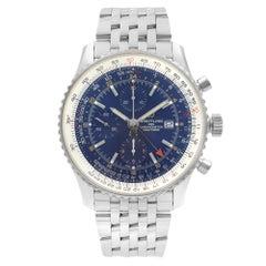 Breitling Navitimer I GMT Chrono Steel Blue Dial Men Watch A24322121C2A1