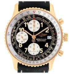 Breitling Navitimer II Black Dial 18 Karat Yellow Gold Men's Watch K13022