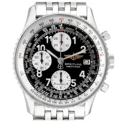 Breitling Navitimer II Black Dial Chronograph Men's Watch A13322 Box