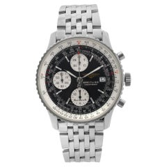 Breitling Navitimer II Steel Chronograph Black Dial Automatic Mens Watch A13322