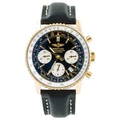 Breitling Navitimer K23322 Mens Automatic Watch Chronograph 18K YG